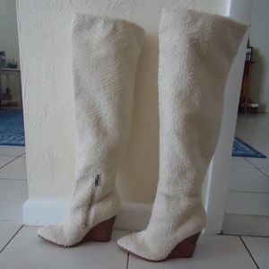 Jessica Simpson Shoes - JS Faux Shearling Over The Knee Wedge Boot 6B NEW!